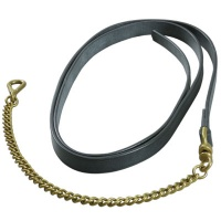 Shires Leather Lead Rein with Chain