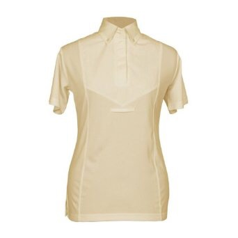 SHIRES YELLOW TIE COLLAR SHORT SLEEVE SHOW SHIRT