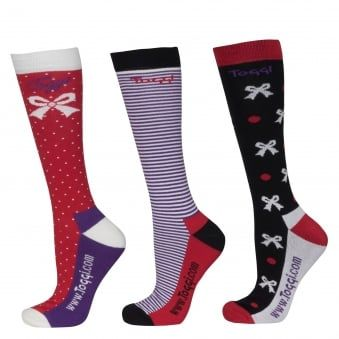 TOGGI 3 PACK SOCKS NEW HAVEN BOWS TULIP